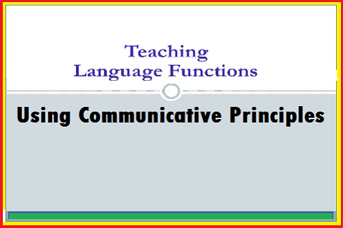 teach language functions