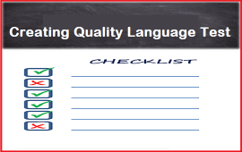 creating quality language test