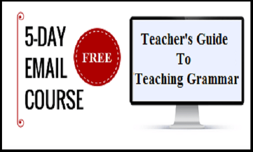 teaching grammar email course