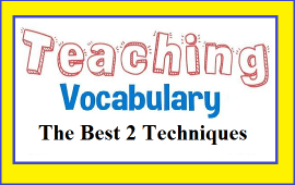 techniques to teaching vocabulary