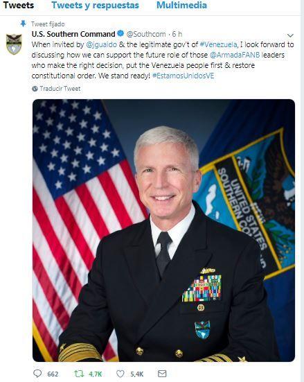 Almirante Craig Faller SOUTHCOM