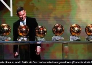 Leo Messi se alza con su sexto Balón de Oro