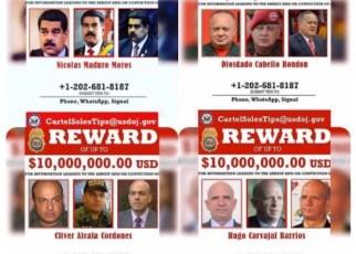 EEUU le puso precio a las cabezas del narcorégimen chavista