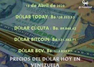 Precio del dólar hoy 15/04/2020 en Venezuela