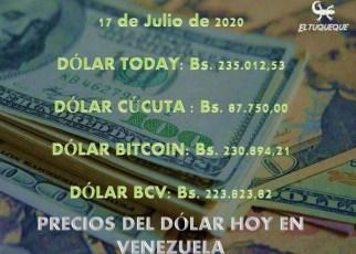 Precio del dólar hoy 17/07/2020 en Venezuela
