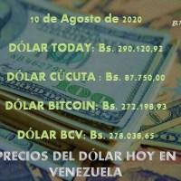 Precio del dólar hoy 10/08/2020 en Venezuela
