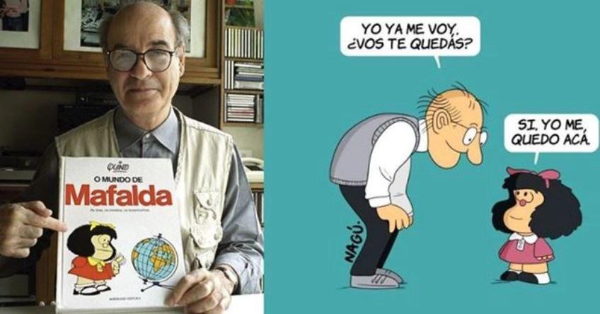 Mafalda despide a su creador