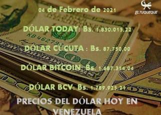 Precio del dólar hoy 04/02/2021 en Venezuela