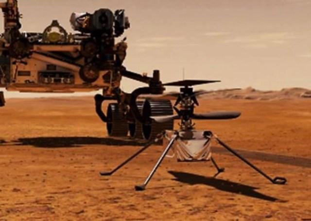 el Helicóptero de la NASA en Marte