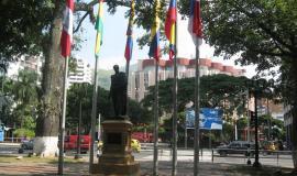 Paseo Bolivar en Cali, Colombia