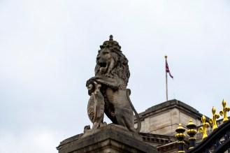 Detalle del palacio de Buckingham