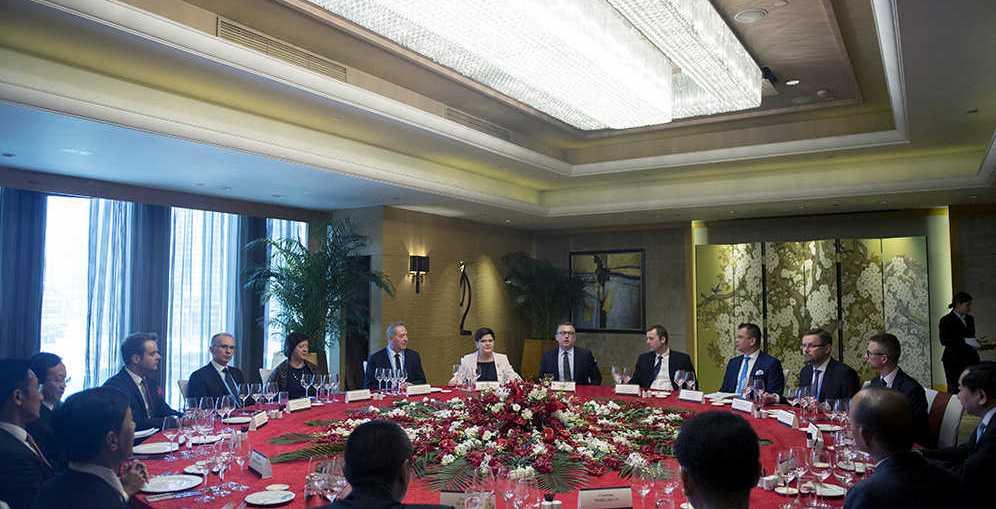Wizyta prezesa KGHM Radosława Domagalskiego w Pekinie