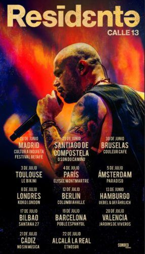 Residente Tour Europeo 2018