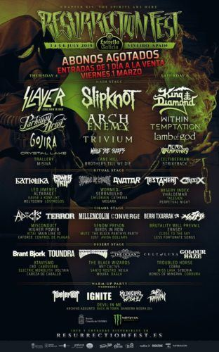 resurrection fest 2019 cartel dias