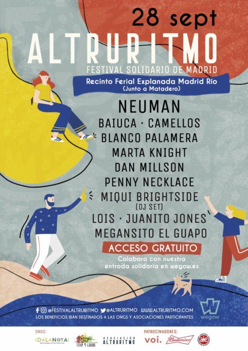 El festival solidario Altruritmo 2019 revela sus horarios