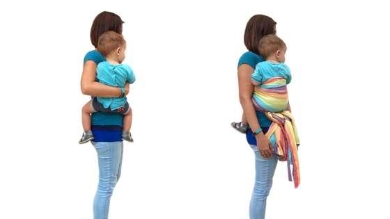llevar al bebe colgado provoca dolor de espalda y el porteo ergonomico puede evitarlo