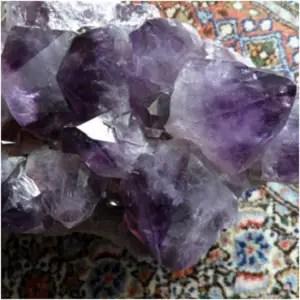 An amethyst crystal.