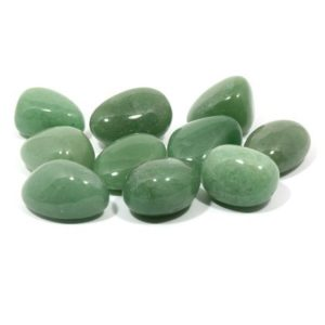 Green Aventurine Tumble Stones from Crystal Age