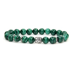 Malachite Natural Sterling Gemstone Bracelet from Amandastone