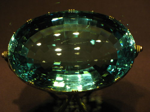 Aquamarine Facts - Dom Pedro is the name of the largest cut Aquamarine in the world, currently being housed at the Smithsonian in Washington D.C.