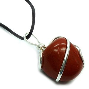 Red Jasper Tumbled Wrapped Pendant from Healing Crystals