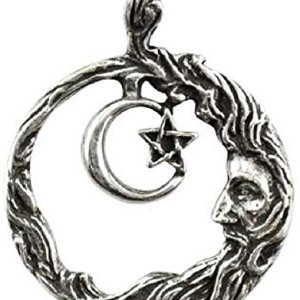 Wicca Wisdom Amulet Pendant Necklace from AzureGreen