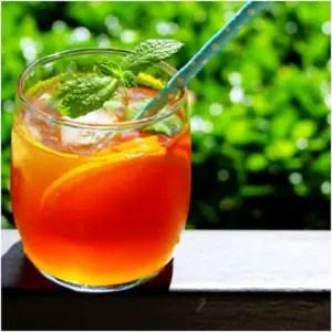 Sparkling Orange and Pineapple White Iced Tea from Elune Blue -- Orange Peel Tea Recipe