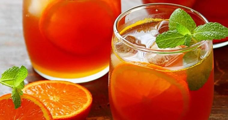 Sparkling Orange Peel and Pineapple White Iced Tea — Kitchen Witchery [Recipe]