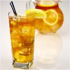 Sparkling Orange Peel and White Pineapple Iced Tea [Recipe]