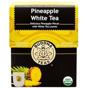 Made with real pineapple fruit bits and rounded out with white tea, each cup of Pineapple White Tea is a naturally sweetened delight. -- Pineapple White Tea
