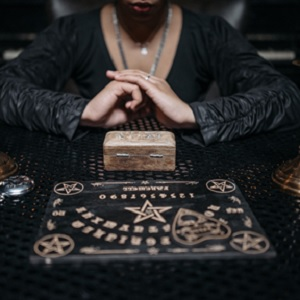 Medium Using Ouija Board