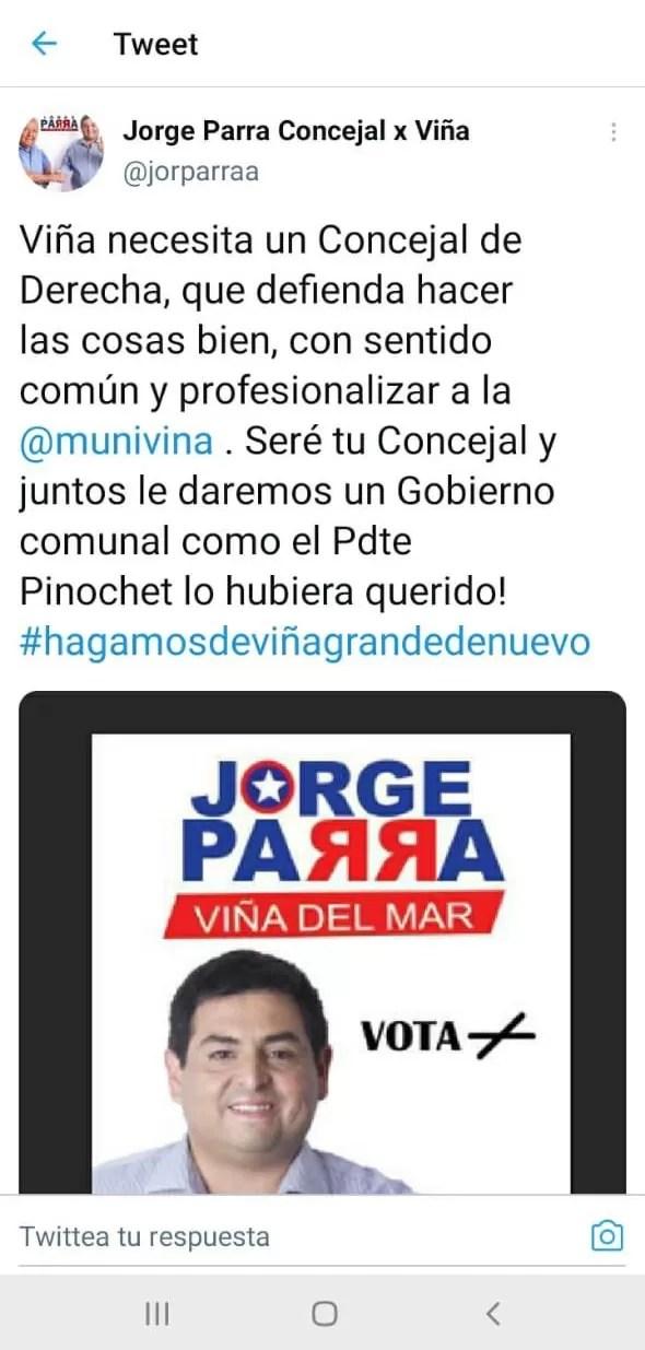 Concejal Jorge Parra Pinochetista asqueroso 0010A