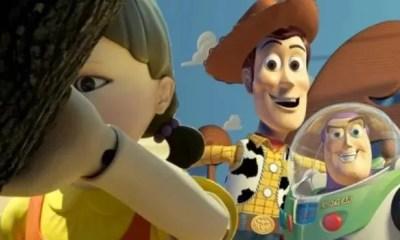 'Toy Story' enfrentándose a muerte en 'El juego del calamar' II001A