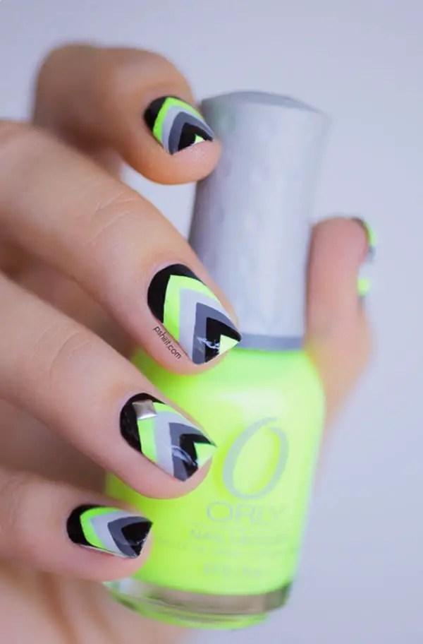 45 diseños de uñas espectacular de neón para 2018 - ElUtil