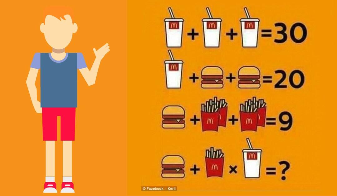 Resuelve el valor del rompecabezas de McDonalds
