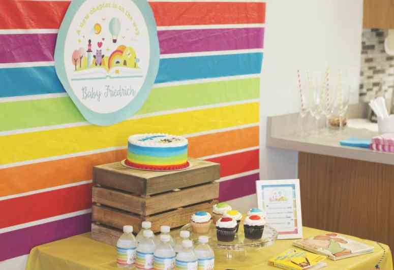Rainbow Book Themed Baby Shower styled by Elva M Design Studio