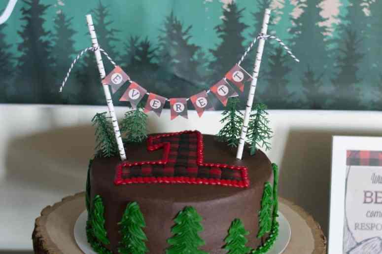 Lumberjack cake topper by Elva M Design Studio