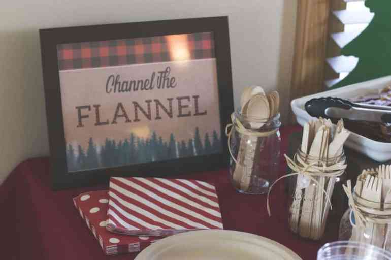 Channel the Flannel Sign and Wood Utensils