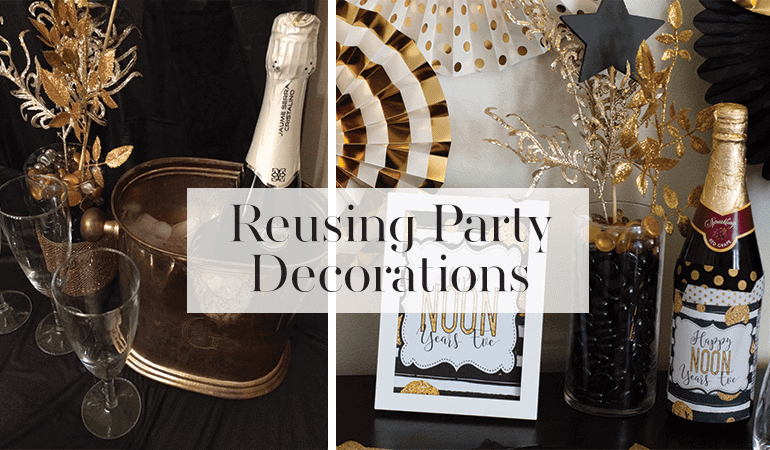 Reusing party decorations