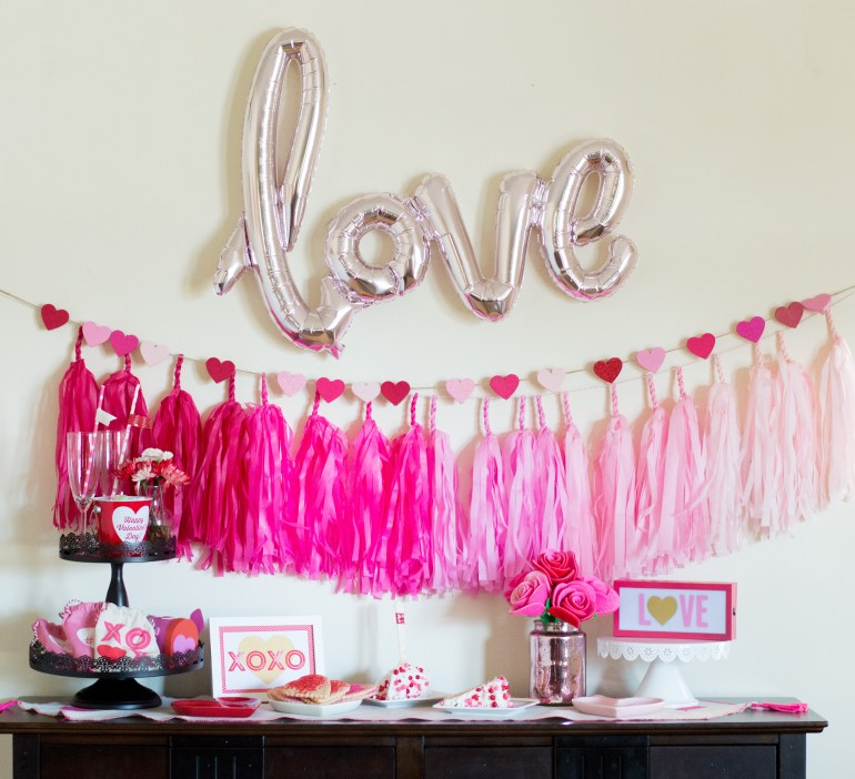 """""""Love"""" Valentine's Day Party with Free Printable"""