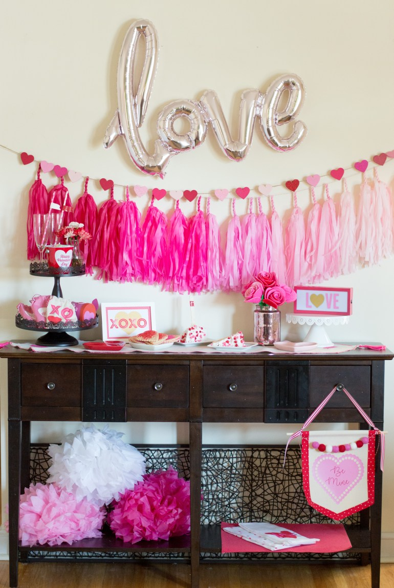 """Love"" Valentine's Day Party Tablescape styled by Elva M Design Studio"