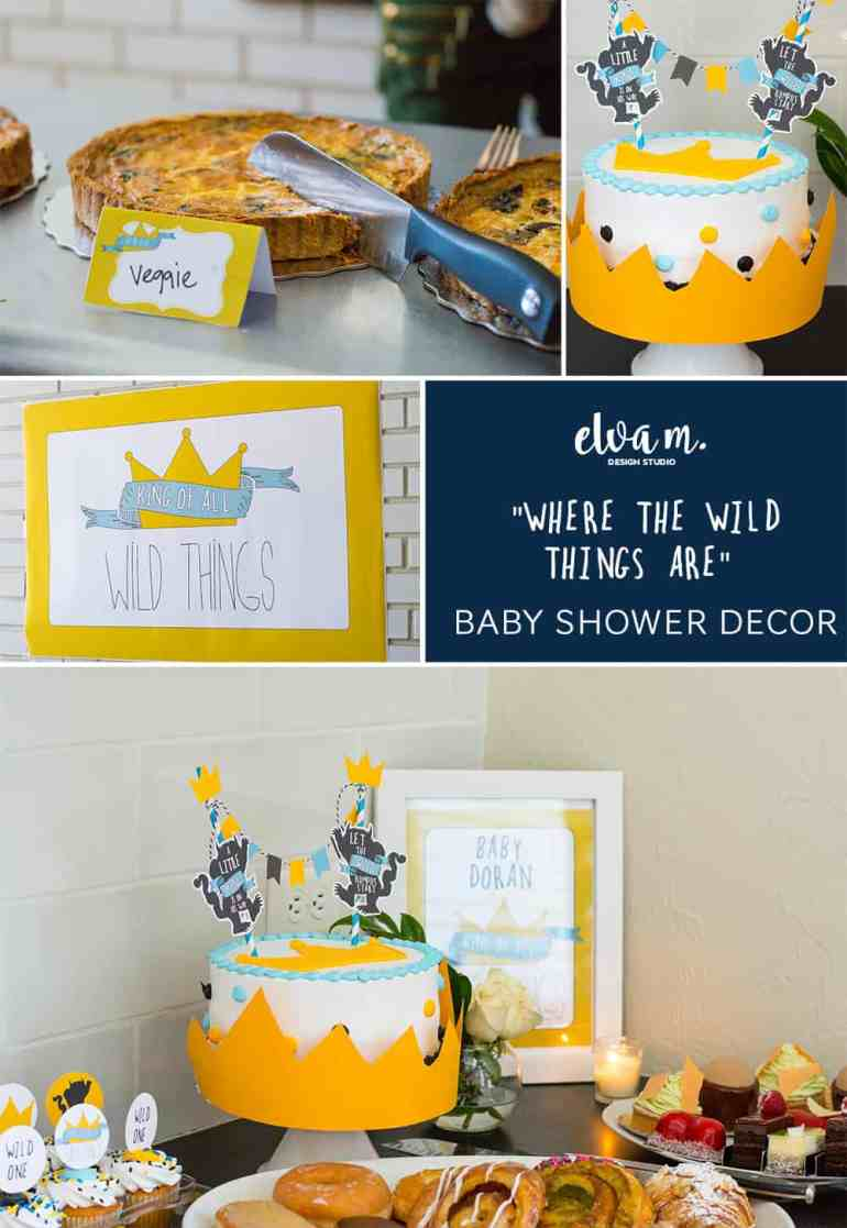 """""""Where the Wild Things Are"""" Printable Baby Shower Decor from Elva M Design Studio"""