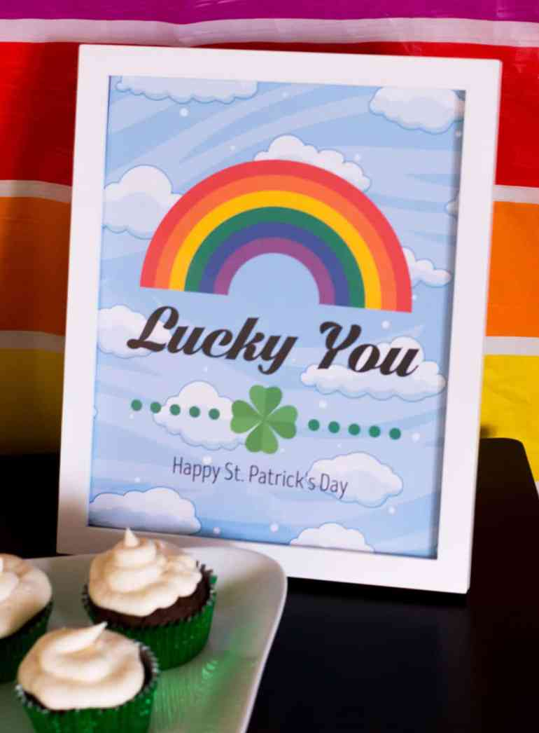Lucky You St. Patrick's Day Party Sign