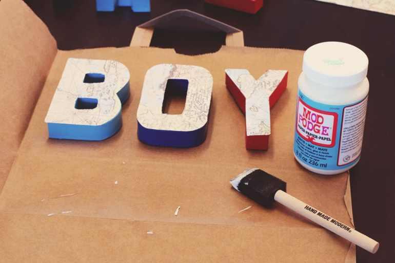 DIY Letters Mod Podge