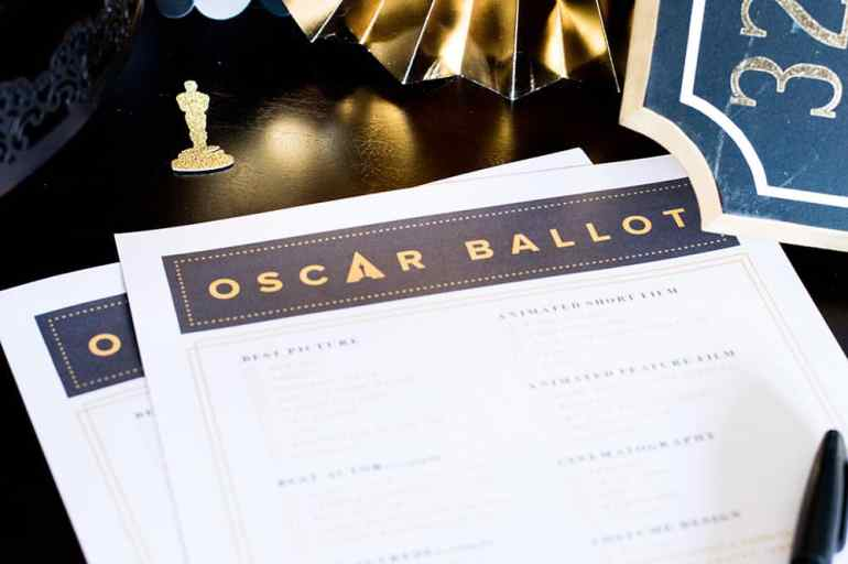 Oscar Ballot from theeverygirl.com styled by Elva M Design Studio