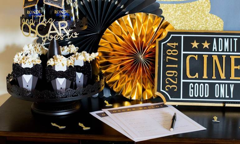 Oscar Party Ballot and Tray