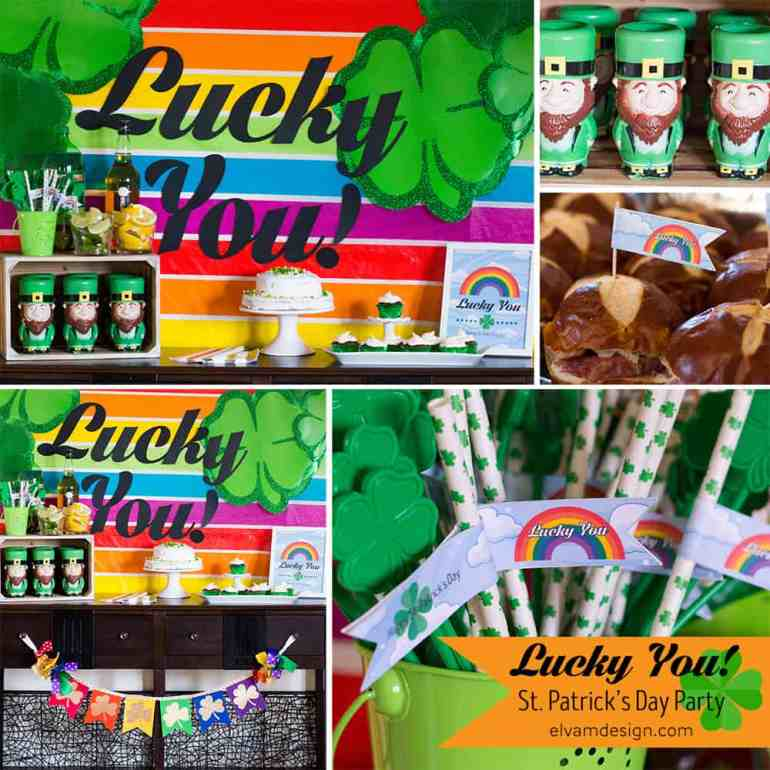 St. Patrick's Day Party Collage