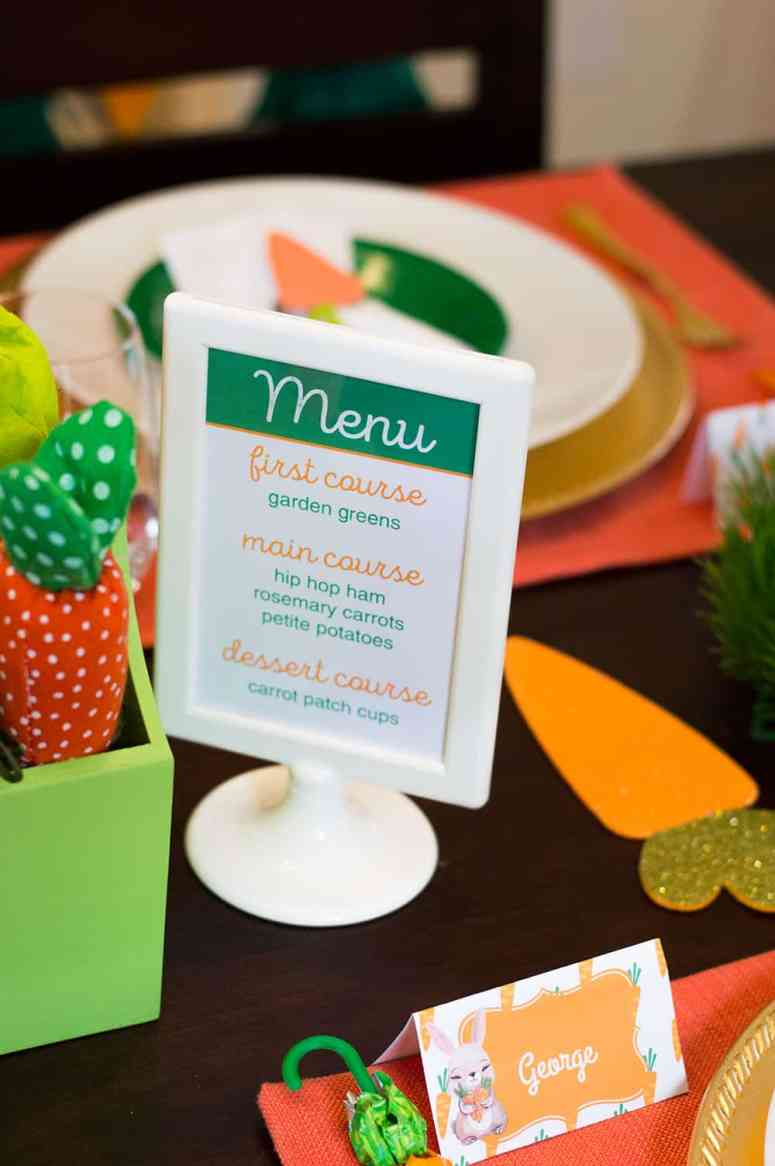 Free Printable Easter Menu Sign