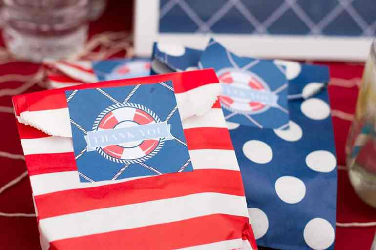 Favor Tag in Nautical Printable Party for Catch My Party