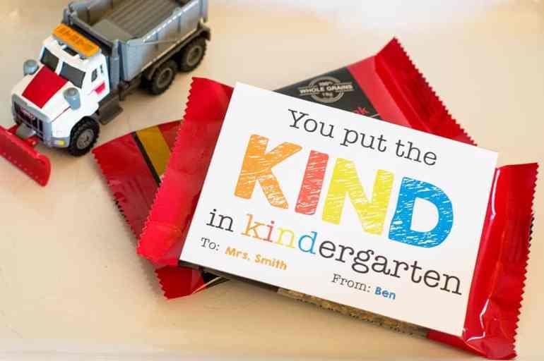 You Put the KIND in Kindergarten Teacher Appreciation Gift